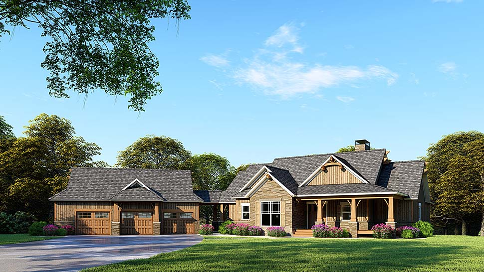 Country Craftsman Southern Traditional House Plan 82349 Elevation