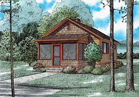 Cabin Country Craftsman House Plan 82354 Elevation