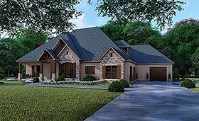Craftsman European Traditional House Plan 82356 Elevation