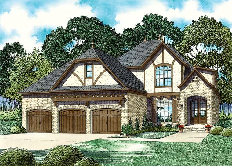 European Southern Tudor House Plan 82359 Elevation