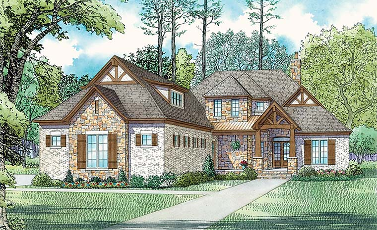 Bungalow Craftsman French Country Tudor House Plan 82360 Elevation
