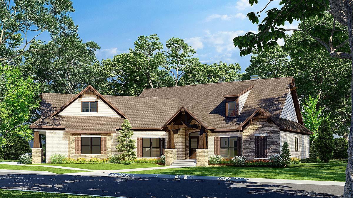 Cottage, Craftsman House Plan 82362 with 3 Beds, 3 Baths, 2 Car Garage Elevation