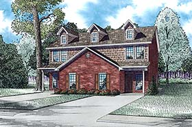 Multi-Family Plan 82363 | Colonial Traditional Style Plan with 3000 Sq Ft, 6 Bedrooms, 6 Bathrooms Elevation