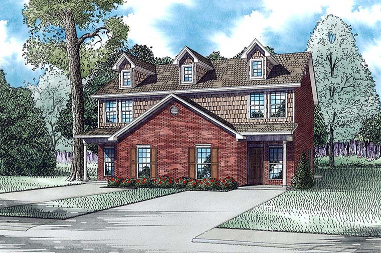 Colonial, Traditional Multi-Family Plan 82363 with 6 Beds , 6 Baths Elevation