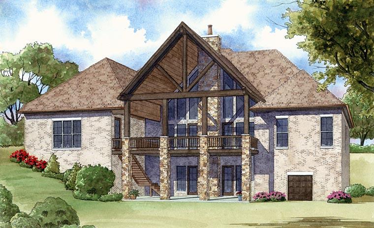 European House Plan 82401 Rear Elevation