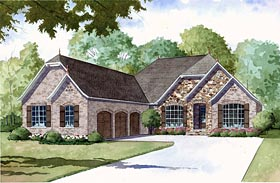 House Plan 82402 | European Style House Plan with 4035 Sq Ft, 4 Bed, 4 Bath, 3 Car Garage Elevation