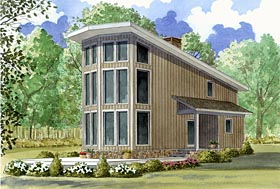Contemporary House Plan 82404 Elevation