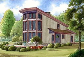Contemporary House Plan 82405 with 2 Beds, 2 Baths Elevation