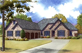 European Tudor House Plan 82407 Elevation