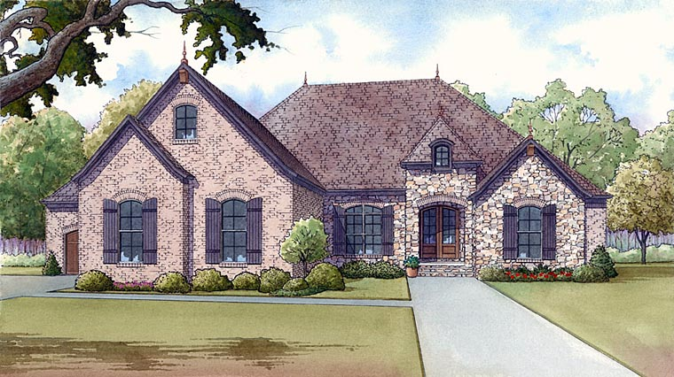 European French Country Tudor House Plan 82408 Elevation