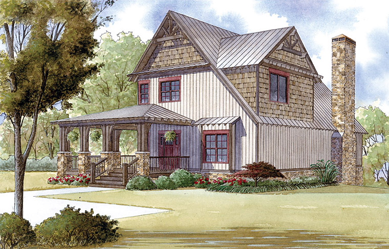 Country Farmhouse Southern House Plan 82409 Elevation