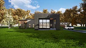 House Plan 82411 | Contemporary Modern Style Plan with 2154 Sq Ft, 3 Bedrooms, 3 Bathrooms, 2 Car Garage Elevation