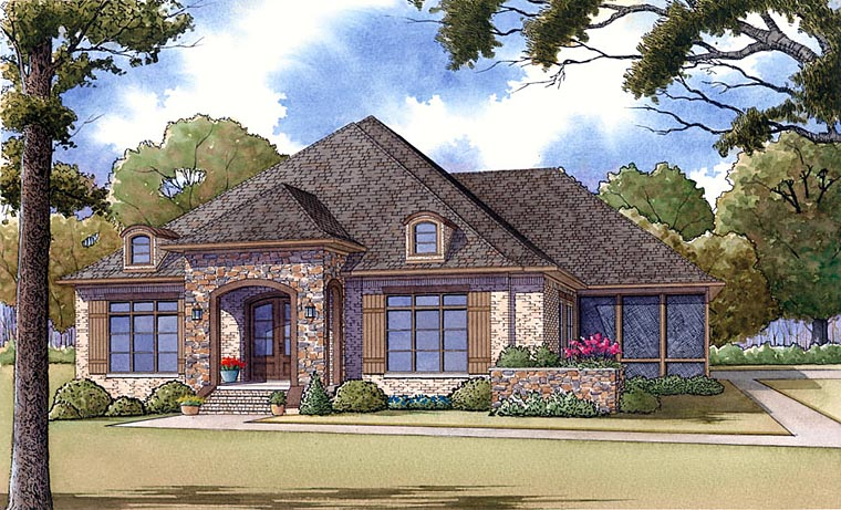 House Plan 82412 with 3 Beds, 3 Baths, 2 Car Garage Elevation