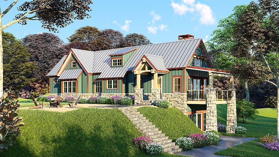Bungalow Cottage Country Craftsman House Plan 82415 Elevation