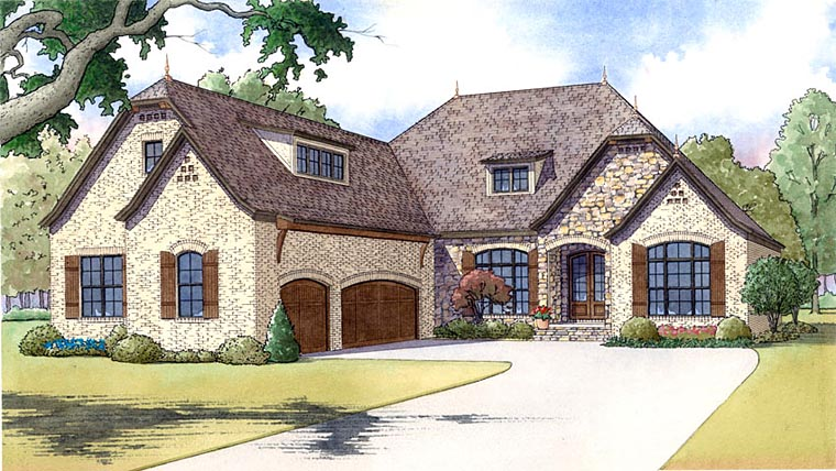 European French Country House Plan 82419 Elevation