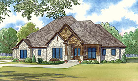 European , Traditional House Plan 82422 with 4 Beds, 5 Baths, 3 Car Garage Elevation