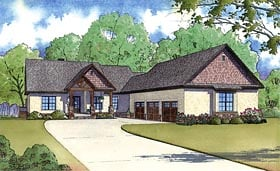 House Plan 82423 | Craftsman Traditional Style Plan with 3697 Sq Ft, 4 Bedrooms, 5 Bathrooms, 3 Car Garage Elevation