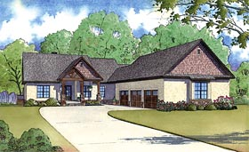 Craftsman , Traditional House Plan 82423 with 4 Beds, 5 Baths, 3 Car Garage Elevation