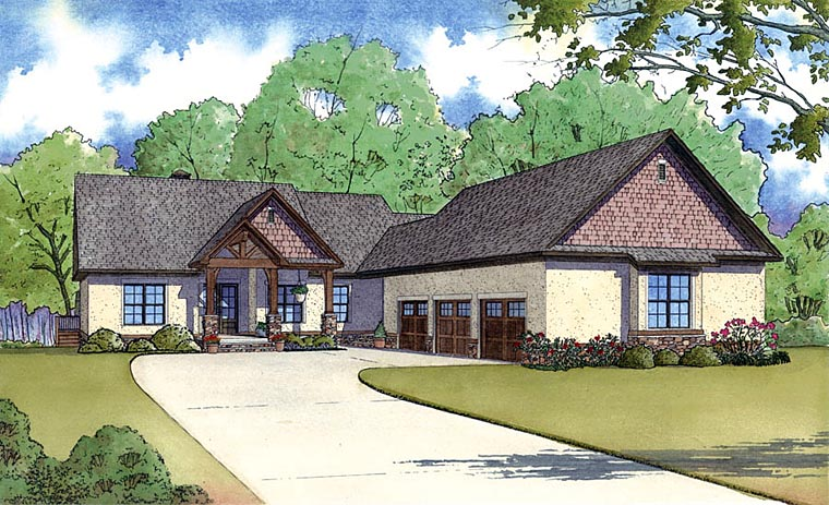 Craftsman Traditional House Plan 82423 Elevation