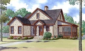 Country , Farmhouse , Southern , Traditional House Plan 82424 with 3 Beds, 2 Baths Elevation