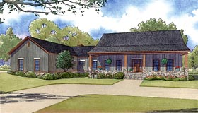 Country Ranch Southern Traditional House Plan 82426 Elevation