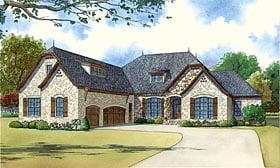 Country European French Country House Plan 82432 Elevation