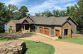 Country , Craftsman , Tudor House Plan 82440 with 4 Beds, 5 Baths, 2 Car Garage Elevation