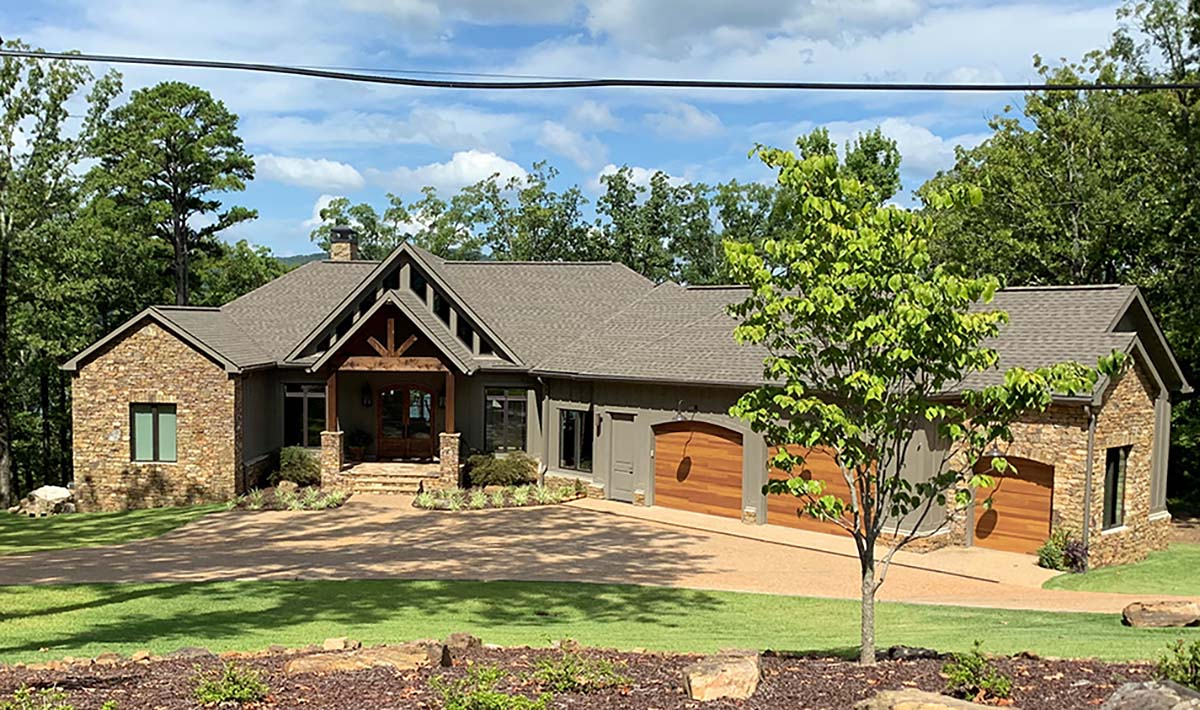 Country, Craftsman, Tudor House Plan 82440 with 4 Beds, 5 Baths, 2 Car Garage Picture 1