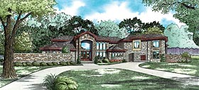 Country , European , Traditional House Plan 82443 with 5 Beds, 9 Baths, 3 Car Garage Elevation