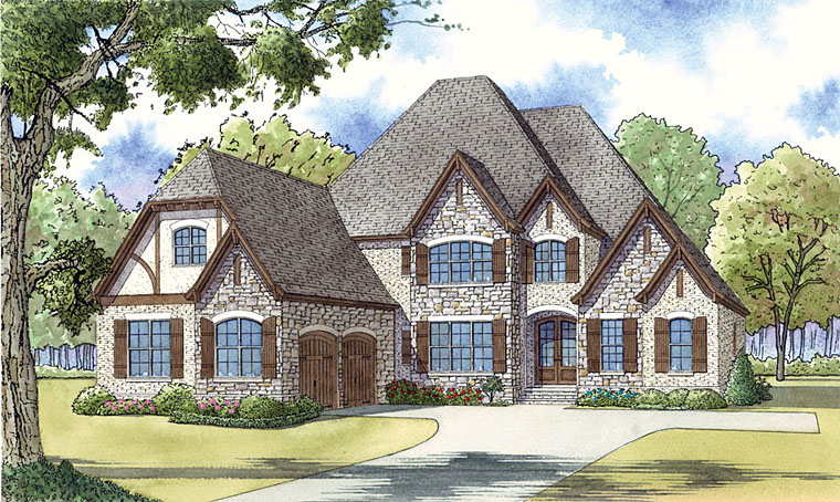 Cottage European French Country Tudor House Plan 82445 Elevation