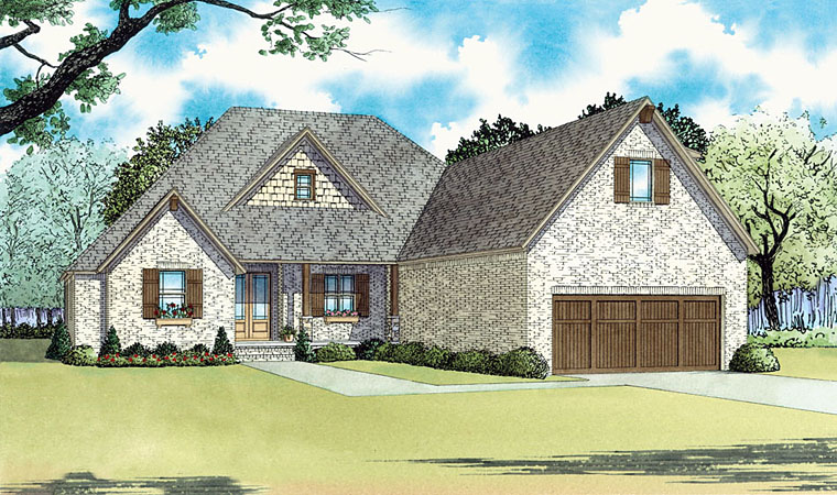 Country European Traditional House Plan 82446 Elevation
