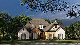 European , French Country , Tudor House Plan 82447 with 4 Beds, 3 Baths, 2 Car Garage Elevation
