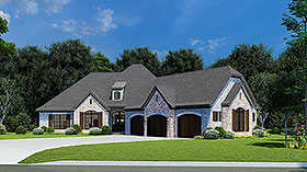 European French Country House Plan 82449 Elevation