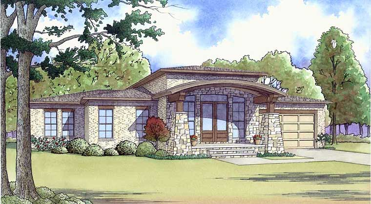 Contemporary Mediterranean Modern House Plan 82452 Elevation