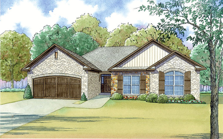Cottage Country Traditional Elevation of Plan 82455