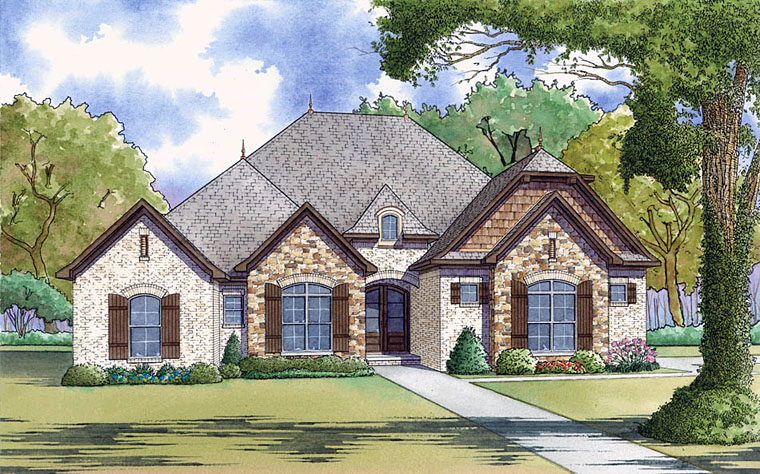 European , Traditional , Elevation of Plan 82456
