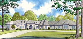 European , French Country , Mediterranean , Southern House Plan 82457 with 4 Beds, 6 Baths, 3 Car Garage Elevation