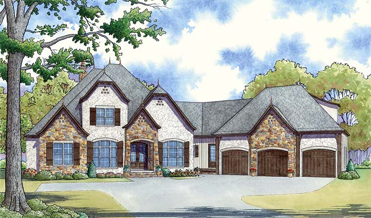 Country European French Country House Plan 82458 Elevation