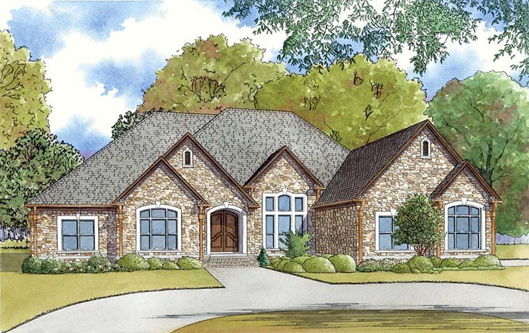 European Southern Traditional House Plan 82460 Elevation