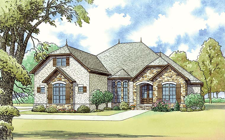 European French Country Traditional House Plan 82462 Elevation