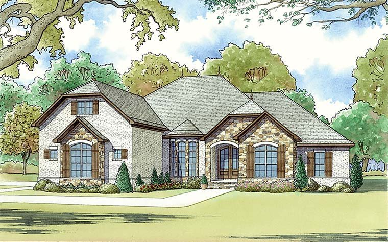 European French Country Traditional House Plan 82463 Elevation