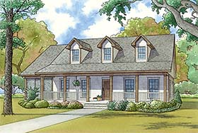 Country , Southern House Plan 82466 with 3 Beds, 3 Baths, 4 Car Garage Elevation