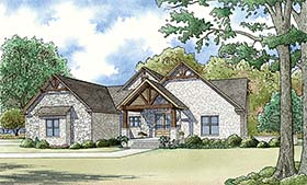Craftsman , Bungalow House Plan 82474 with 4 Beds, 4 Baths, 2 Car Garage Elevation