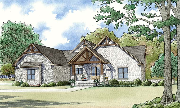 Bungalow Craftsman House Plan 82474 Elevation