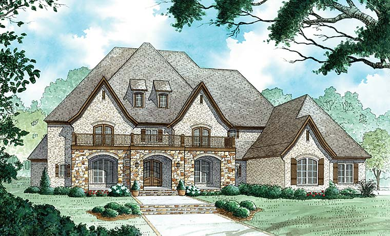 European , French Country , Traditional House Plan 82476 with 4 Beds, 6 Baths, 3 Car Garage Elevation