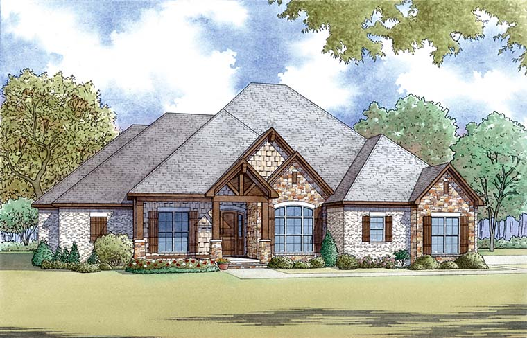 Bungalow Craftsman French Country Traditional House Plan 82477 Elevation