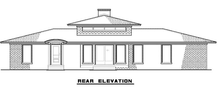 Contemporary Mediterranean Modern House Plan 82480 Rear Elevation