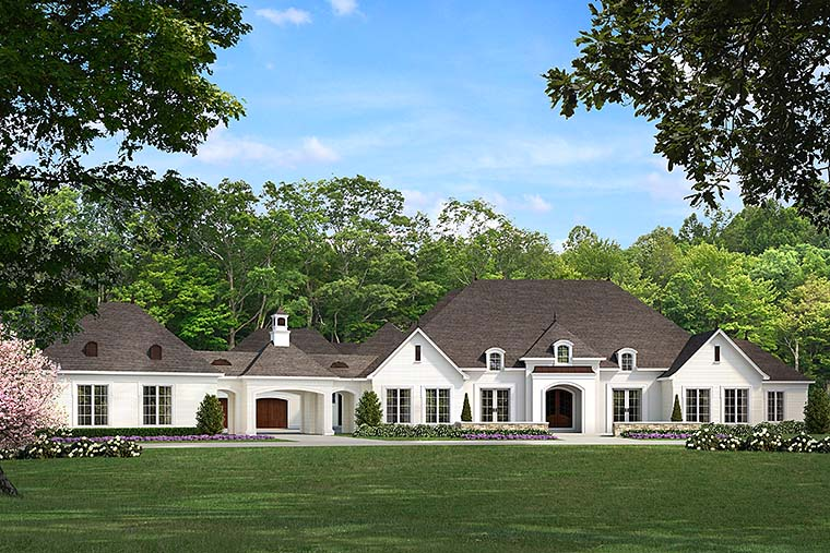 European, French Country, Traditional House Plan 82481 with 5 Beds, 7 Baths, 4 Car Garage Elevation