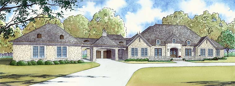 European, French Country, Traditional House Plan 82481 with 5 Beds, 7 Baths, 4 Car Garage Picture 1