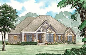 House Plan 82483 | Craftsman European Southern Traditional Style Plan with 2253 Sq Ft, 3 Bed, 3 Bath, 3 Car Garage Elevation